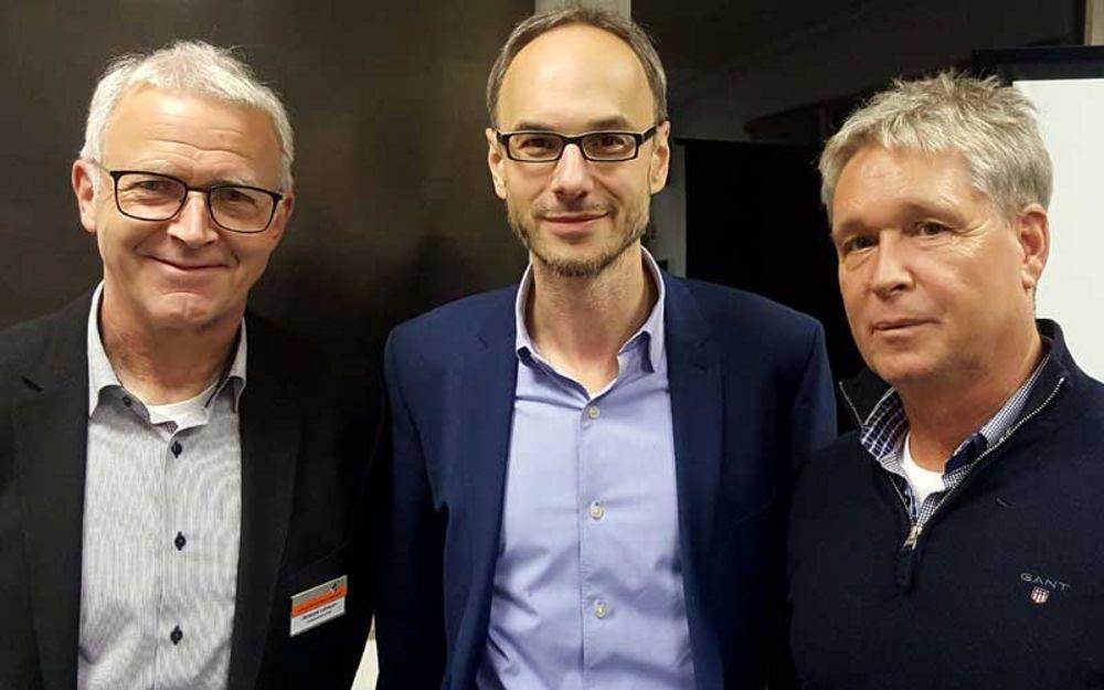Gruppenfoto Christoph Leßmann, Timo Prieß und Klaus Wollny (von links)