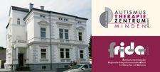 Foto zeigt Haus, Logos ATZ Minden und FRIDA
