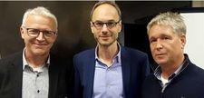 Gruppenbild Christoph Leßmann, Timo Prieß und Klaus Wollny (von links)