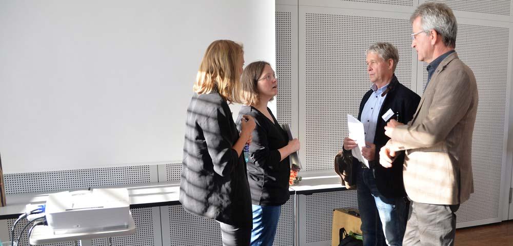 Gruppenbild von links nach rechts Antje Fischle, Lisa Schmidt, Klaus Wollny und Ulrich Sickmann