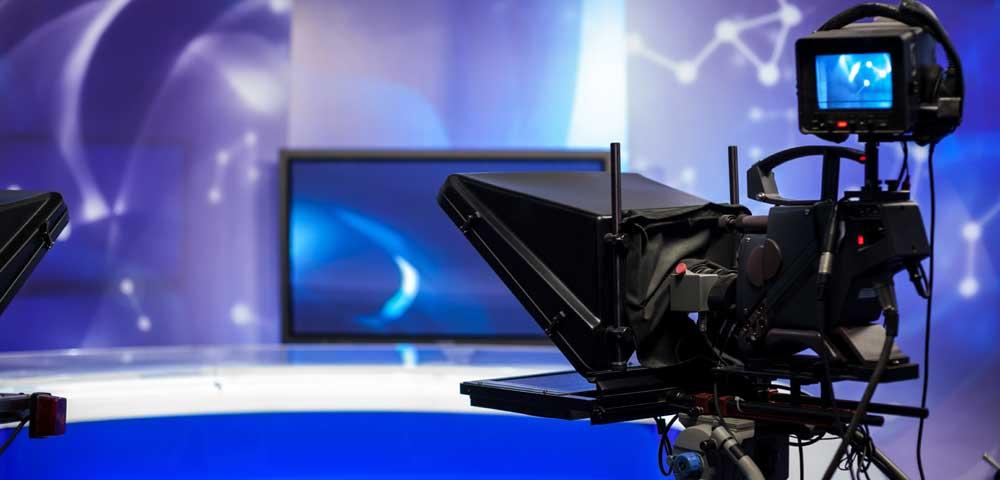 Foto von einer Fernsehkamera