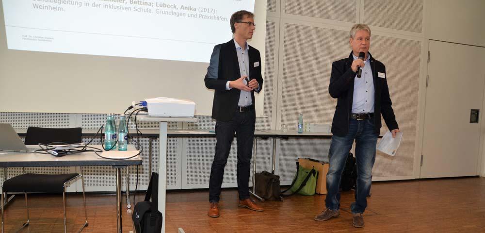 Gruppenbild links Prof. Dr. Christian Huppert, rechts Klaus Wollny